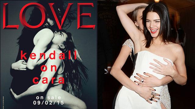 Kendall Jenner Straddles Cara Delevingne for 'Love' Magazine Cover